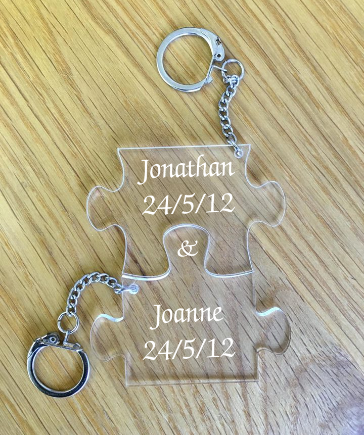 Personalised Connecting Puzzle Keyings | Metal Memories