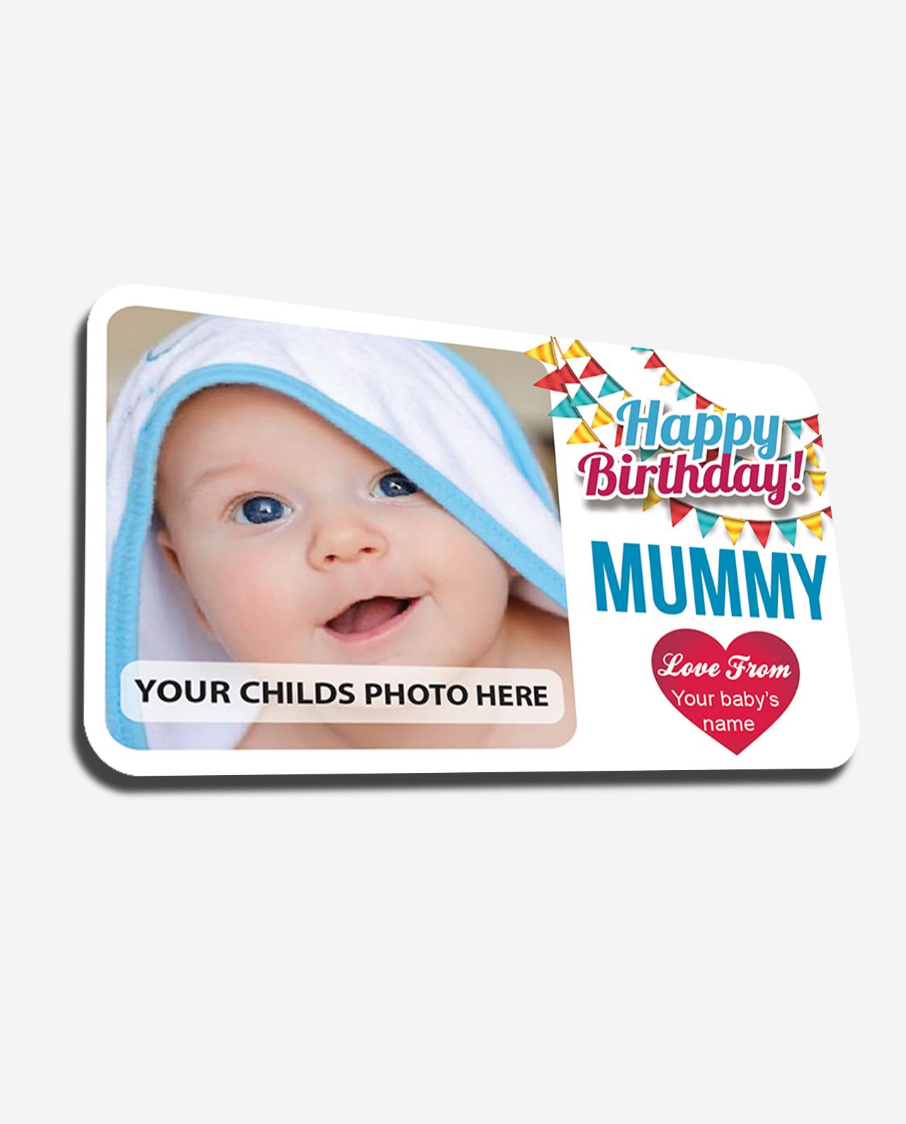 Personalised Metal Wallet Insert Card Happy Birthday Mum