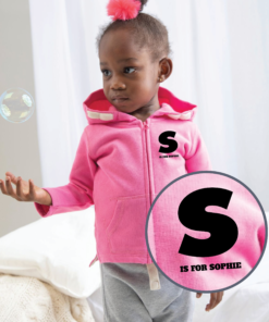 Personalised Baby / Toddler Zip Hoodie (Design 1)
