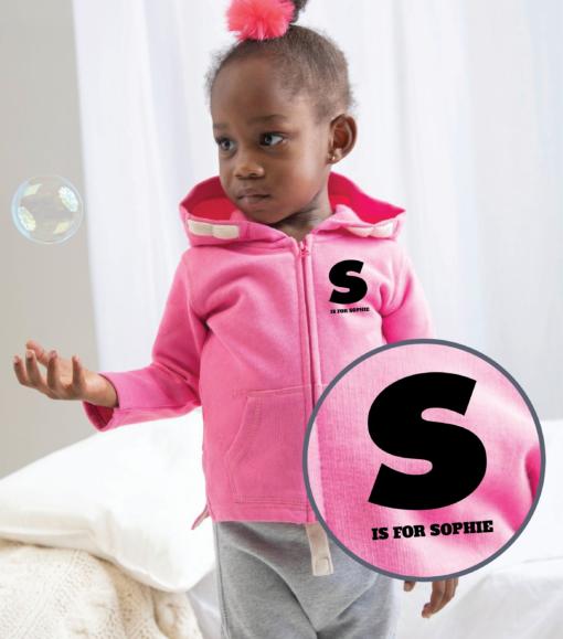 Personalised Baby / Toddler Zip Hoodie (Design 1)