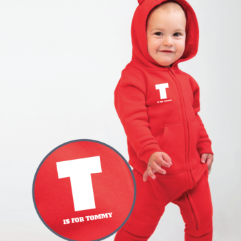 Personalised Baby / Toddler Onesie (With Ears Design 1)