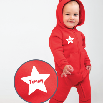 Personalised Baby / Toddler Onesie (With Ears Design 2)