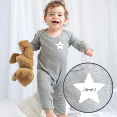 Personalised Baby / Toddler Rompersuit (Design 2)