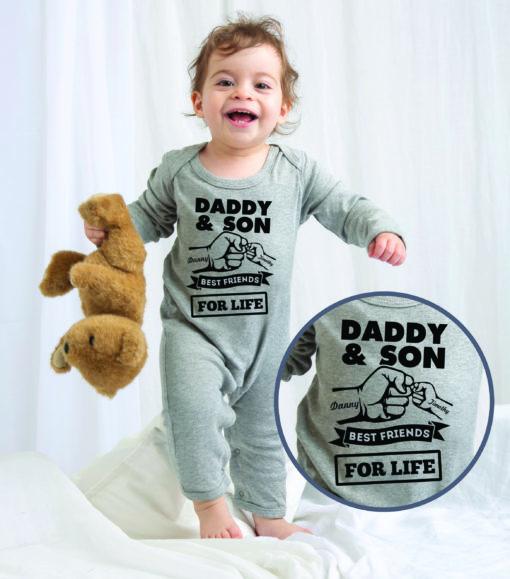 Personalised Baby / Toddler Rompersuit (Best Friend Design)