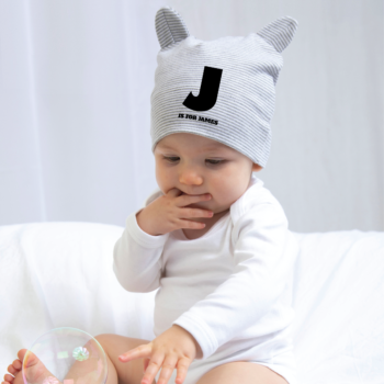 Personalised Baby Little Hat With Ears
