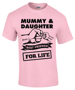 Personalised Adult T-Shirt (Daddy / Mother & Daughter Designs)