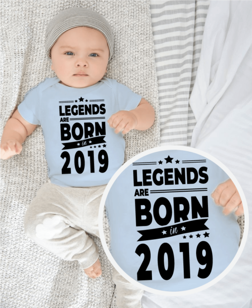 Personalised Baby / Toddler T-Shirt (Legend Year Design)