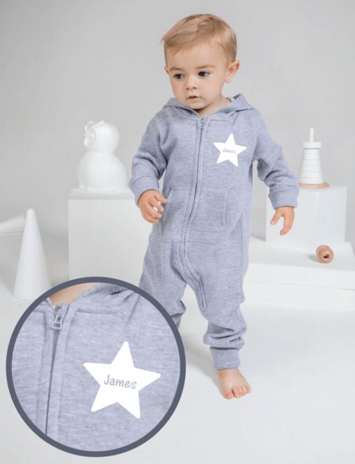 Personalised Baby / Toddler Onesie (Star Design)